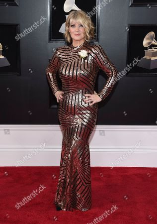 Natalie Grant arrives at the 60th annual Grammy Awards at Madison Square Garden, in New York