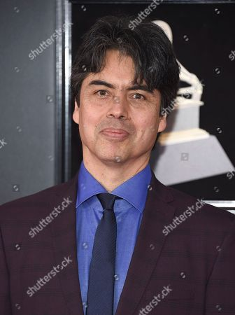 Randy Porter arrives at the 60th annual Grammy Awards at Madison Square Garden, in New York