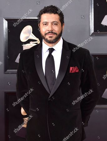 Doug Beavers arrives at the 60th annual Grammy Awards at Madison Square Garden, in New York