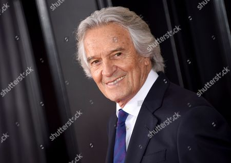 John McLaughlin arrives at the 60th annual Grammy Awards at Madison Square Garden, in New York