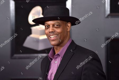 Eric Bibb arrives at the 60th annual Grammy Awards at Madison Square Garden, in New York