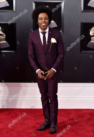 Stock Photo of Alex Cuba arrives at the 60th annual Grammy Awards at Madison Square Garden, in New York