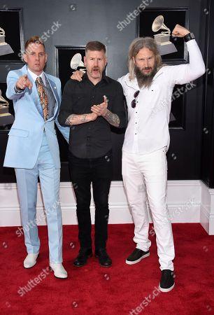 Brann Dailor, Bill Kelliher, Troy Sanders. Brann Dailor, from left, Bill Kelliher and Troy Sanders of Mastodon arrive at the 60th annual Grammy Awards at Madison Square Garden, in New York