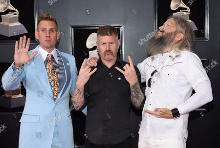 Brann Dailor, Bill Kelliher, Troy Sanders. Brann Dailor, from left, Bill Kelliher and Troy Sanders of Mastodon arrive at the 60th annual Grammy Awards at Madison Square Garden, in New York