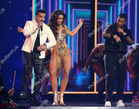 "Luis Fonsi, Daddy Yankee, Zuleyka Rivera. Luis Fonsi, Daddy Yankee and Zuleyka Rivera perform ""Despacito"" at the 60th annual Grammy Awards at Madison Square Garden, in New York"