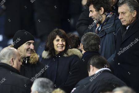 Raymond Domenech, Estelle Denis, Nicolas Sarkozy, Mauricio Macri