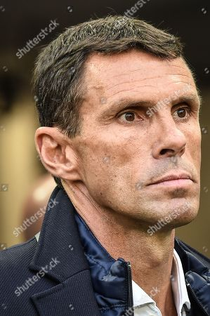 Girondins de Bordeaux coach Gustavo Poyet urinf the Girondins de Bordeaux versus Olympic Lyonnais ligue 1 football game in Bordeaux's Matmut Atlantique stadium.//AMEZUGO_076/Credit:UGO AMEZ/SIPA/1801282050