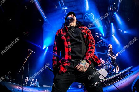 Stock Photo of Craig Mabbitt from American rock band from Las Vegas Escape the Fate
