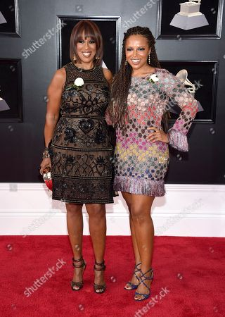 Gayle King, Kirby Bumpus. Gayle King, left, and Kirby Bumpus arrive at the 60th annual Grammy Awards at Madison Square Garden, in New York