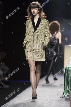 Mayka Merino on the catwalk