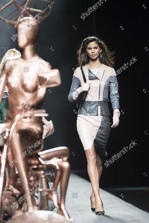 Stock Image of Kelie Santos on the catwalk