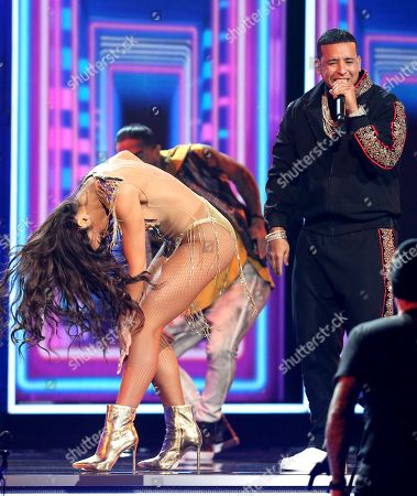 "Zuleyka Rivera, Daddy Yankee. Zuleyka Rivera, left, dances as Daddy Yankee performs ""Despacito"" at the 60th annual Grammy Awards at Madison Square Garden, in New York"