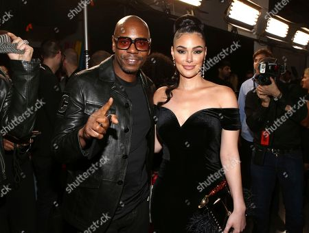Dave Chappelle, Lina Esco. Dave Chappelle and Lina Esco attend the Universal Music Group's 2018 After Party for the Grammy Awards presented by American Airlines and Citi on in New York
