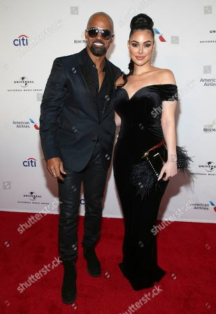 Stock Picture of Shemar Moore, Lina Esco. Shemar Moore and Lina Esco attend the Universal Music Group's 2018 After Party for the Grammy Awards presented by American Airlines and Citi on in New York