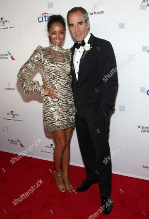 Angelina Davis, Monte Lipman. Angelina Davis and Republic Records Chairman/CEO Monte Lipman attend the Universal Music Group's 2018 After Party for the Grammy Awards presented by American Airlines and Citi on in New York