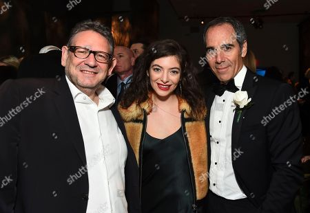 Sir Lucian Grainge, Lorde, Monte Lipman. Chairman and CEO of UMG Sir Lucian Grainge, Lorde and Repulic Records CEO Monte Lipman attend the Universal Music Group's 2018 After Party to celebrate the Grammy Awards presented by American Airlines and Citi on in New York