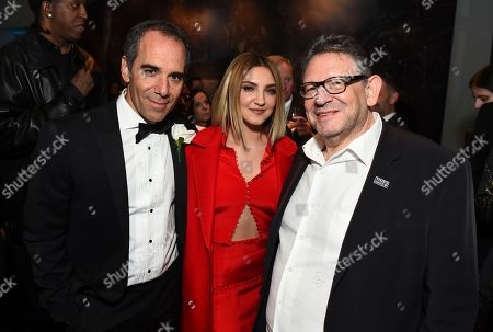 Monte Lipman, Julia Michaels, Sir Lucian Grainge. Repulic Records CEO Monte Lipman, Julia Michaels, and Chairman and CEO of UMG Sir Lucian Grainge attend the Universal Music Group's 2018 After Party to celebrate the Grammy Awards presented by American Airlines and Citi on in New York
