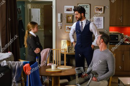 Ep 9374 Wednesday 7 February 2018 - 2nd Ep Adam Barlow, as played by Sam Robertson, offers Billy Mayhew, as played by Daniel Brocklebank, more painkillers and in a bid to make himself indispensable he does the laundry for Billy and Summer, as played by Matilda Freeman, . Summer is worried social services may think they can't cope.