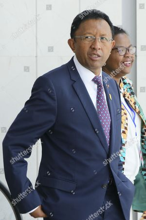 President of Madagascar Hery Rajaonarimampianina arrives at the 30th Ordinary Session of the African Union (AU) Summit in Addis Ababa, Ethiopia, 29 January 2018. President of Rwanda Paul Kagame has officially taken over as the new Chairman of the African Union on 29 January. African leaders and the United Nations Secretary-General Antonio Guterres will discuss politcal and security issues under the theme 'Winning the Fight against Corruption: A Sustainable Path to Africa's Transformation'.