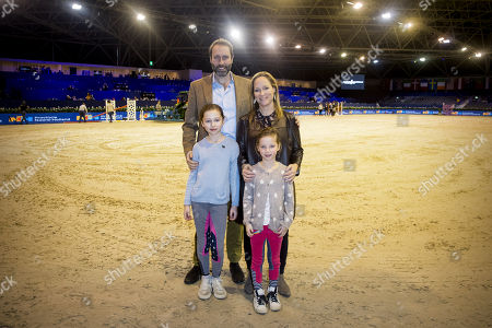 Editorial photo of Princess de Bourbon de Parme and Family in the equestrian sports hall, Amsterdam, Netherlands - 28 Jan 2018