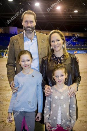 Editorial picture of Princess de Bourbon de Parme and Family in the equestrian sports hall, Amsterdam, Netherlands - 28 Jan 2018