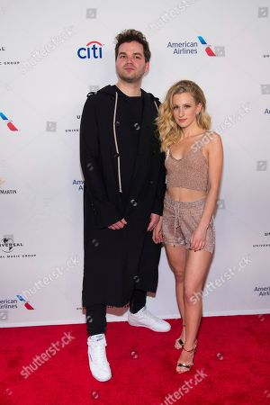 Jeremy Lloyd, Samantha Gongol. Jeremy Lloyd and Samantha Gongol attend the Universal Music Group's Grammy after party at Spring Studios, in New York