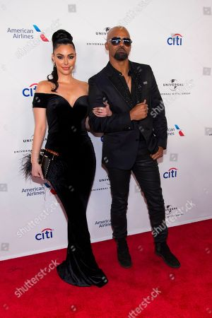 Anabelle Acosta, Shemar Moore. Anabelle Acosta, left, and Shemar Moore attend the Universal Music Group's Grammy after party at Spring Studios, in New York