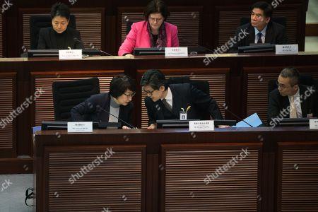 Teresa Cheng Yeuk-wah and Wesley Wong