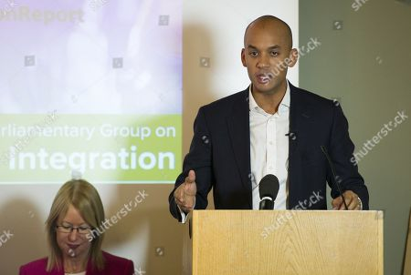Editorial picture of Labour Mp Chuka Umunna Launches A Report On Findings Of The Appg's Social Integration Group. Mary Riddell Assist. Ed. Telegraph. British Academy Carlton House Terrace Sw1.