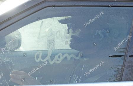 Fadi Fawaz. George Michael's Former Boyfriend Fadi Fawaz Leaving His Home Near Regent's Park In London With A Message On His Windscreen. 08/01/2017.