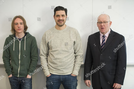 Scam Academy. (l-r) Scott Mcgready Alexis Conran And Tony Blake. Money Mail Interviews The Scam Academy. Scam Academy Takes Three Celebrities Through Their Paces When It Comes To Internet Scams. Tv Show. Pictures Embargoed Until 31st January.