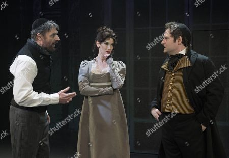 Robert Cuccioli as Mayer Rothschild, Glory Crampton as Gutele, Gary Trainor as Nathan