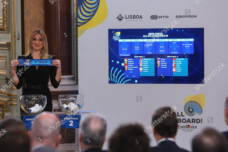 Editorial photo of Semi-Finals draw of the Eurovision Song Contest 2018, Lisbon, Portugal - 29 Jan 2018