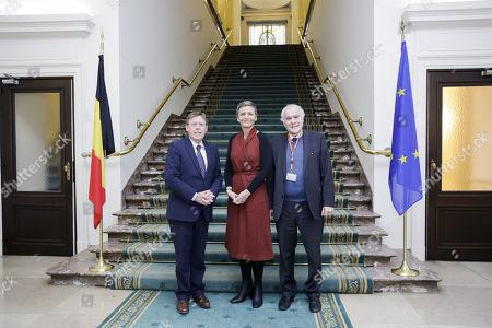 Siegfried Bracke, Margrethe Vestager and Eric Van Rompuy
