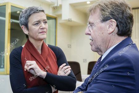 Margrethe Vestager and Siegfried Bracke