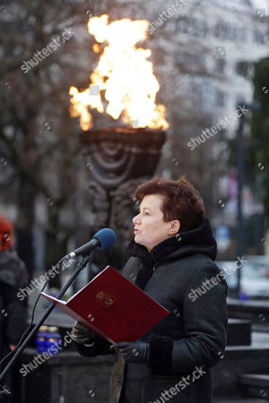 Mayor of Warsaw Hanna Gronkiewicz-Waltz gives a speech during an event to mark the International Holocaust Remembrance Day in Warsaw, Poland, 29 January 2018. The event was organised by the Shalom Foundation.