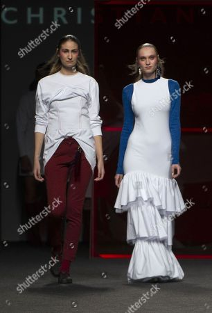 Stock Picture of Almudena Canedo and Tanya Reutt on the catwalk