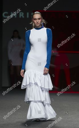 Stock Image of Tanya Reutt on the catwalk