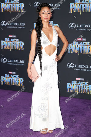 Editorial photo of 'Black Panther' film premiere, Arrivals, Los Angeles, USA - 29 Jan 2018