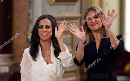 Filomena Cautela, Silvia Alberto. Presenters Filomena Cautela, left, and Silvia Alberto during the Eurovision Song Contest semifinal allocation draw, at the Lisbon City Hall. Cautela and Alberto will present the finals of the 2018 Eurovision Song Contest to be held in Lisbon in May 2018