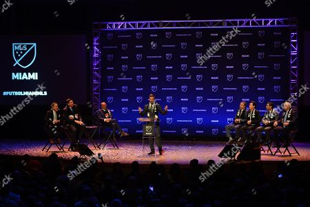 Jorge Mas, Marcelo Claure, David Beckham, Don Garber, Jose Mas, Simon Fuller, Francis Suarez, Carlos Gimenez