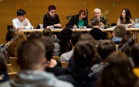 Editorial photo of International Youth Meeting of the Bundestag with Volodymyr Dshelali, Dachau, Germany - 29 Jan 2018