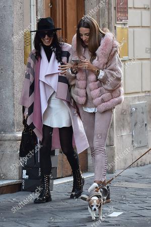Stock Picture of Raffaella Modugno and friend