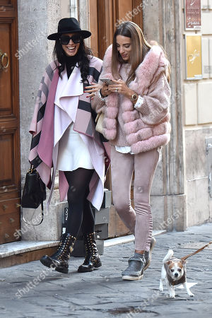 Editorial image of Raffaella Modugno out and about, Rome, Italy - 22 Jan 2018