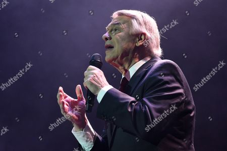 Belgian-Italian singer Salvatore Adamo during his concert at Nuevo Apolo theater