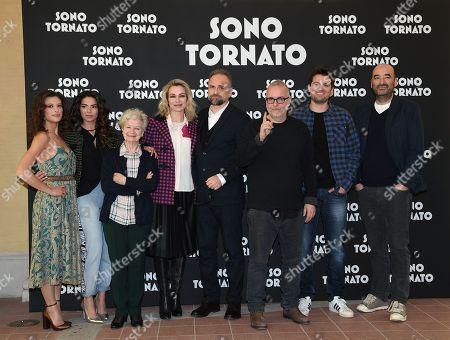 The director Luca Miniero and cast Marta Bulgherini, Eleonora Belcamino, Ariella Reggio, Stefania Rocca, Massimo Popolizio, Frank Matano, the screenplayer Nicola Guaglianone