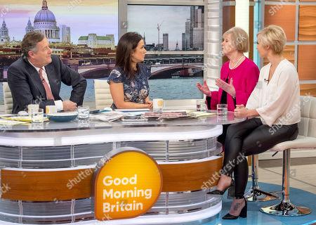 Stock Image of Piers Morgan, Susanna Reid, Jean Broke-Smith and Amy Nickell