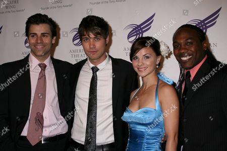 Stock Photo of Adam Fiorentino, Drew Seeley, Chelsea Morgan Stock, Rogelio Douglas Jr