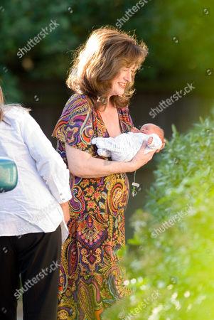 Editorial image of Britain's oldest mother Elizabeth Adeney arriving home with her newborn baby boy, Lidgate, Suffolk, Britain - 01 Jun 2009