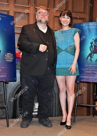 Guillermo Del Toro (L) and actress Rinko Kikuchi